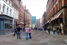 Dale Street Manchester being dressed as Brooklyn for Captain America, The First Avenger