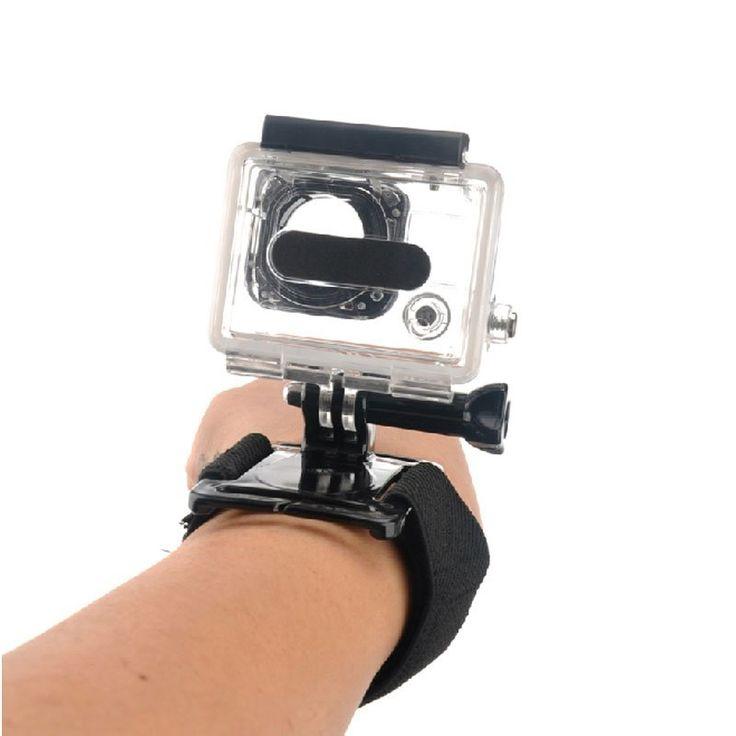 Cette bande vous permettra de fixer votre caméra sport GoPro ou d'autres marques à votre poignet pour des angles de vue différents.