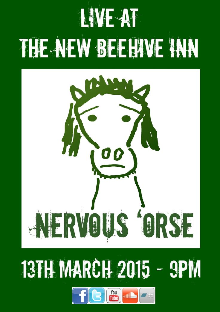 Next gig is at The New Beehive Bradford from 9pm, #TheNewBeehiveInn #NervousOrse