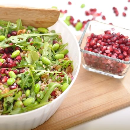 Recettes santé | Nutrisimple | Salade de sarrasin à la grenade et edamames