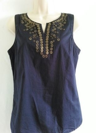 Buy my item on #vinted http://www.vinted.com/womens-clothing/sleeveless-and-tank-tops/20489148-st-johns-bay-sleeveless-dark-blue-with-embellishment
