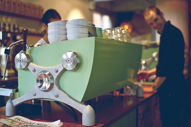 Pastel Slayer Espresso Machine.