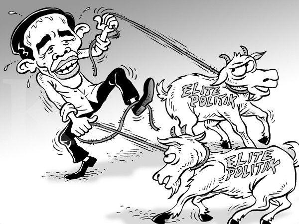 Kartun Benny, Kontan - Februari 2015: Sulitnya Mengatur di Tahun Kambing
