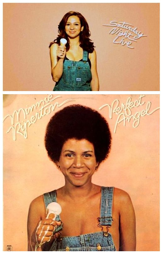 """Maya Rudolph pays tribute to her mother's (the late Minnie Riperton) 1974 """"Perfect Angel"""" album cover. (via @Brisk Convergence)Album Covers, Perfect Angels, Mothers, Minnie Riperton, Maya Rudolph, Minnie Ripperton, Covers Art, Black, Favorite People"""