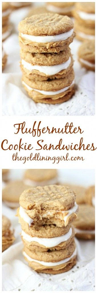 The easiest chewy, 3-ingredient peanut butter cookies, slathered with peanut butter, and a layer of marshmallow cream frosting!