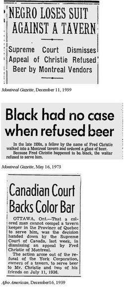 Cette article montre l'histoire de Fred Christie et Hugh Burnett. ( les dates dans cette article est incorrect, l'événement de Hugh brunette est arrivé après la terminaison de la second guerre, 1947.) L'article louanges le gouvernement américain parce que ils reconnaître les faut qu'ils ont fait dans le passé. L'article demandent au gouvernement canadien de seulement reconnaître leur passé et se qu'ils ont fait. Olivia Stewart.