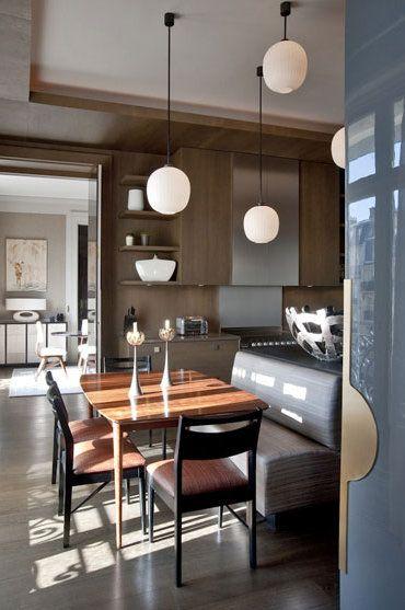 Eat in kitchen by interior designer jean louis deniot ceiling detail