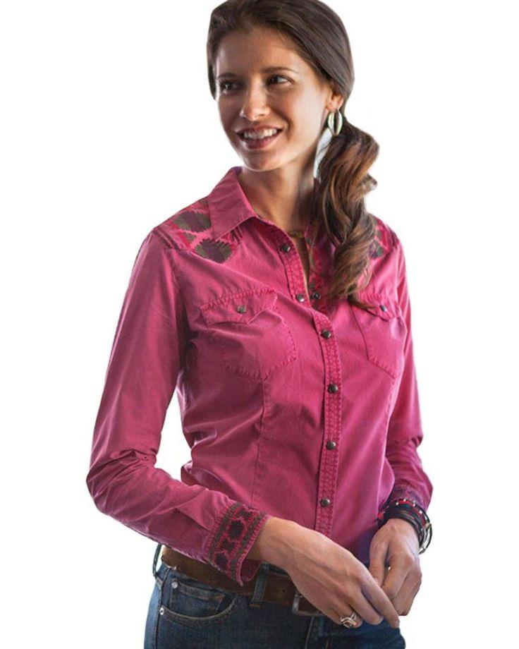 Ryan Michael Women's Samantha Aztec Embroidered Shirt - P1651MM #RyanMichael #LongSleeve