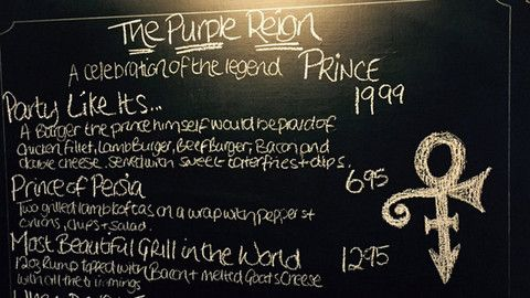 Party like it's £19.99: pub celebrates life of Prince with pun-filled menu