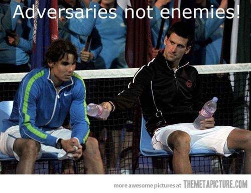 This was an epic match. Rafa and Novak - Australian Open 2012.