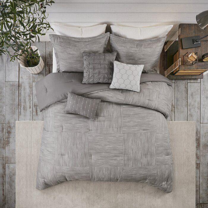 Cainhoe 7 Piece Printed Seersucker Comforter Set Allmodern Comforter Sets Bedroom Comforter Sets Grey Comforter Sets
