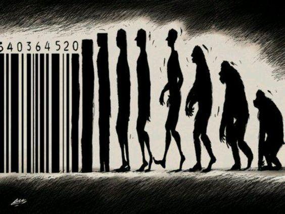 """Monsieur Darwin, vous avez dit """"Evolution"""" ? / Street art."""