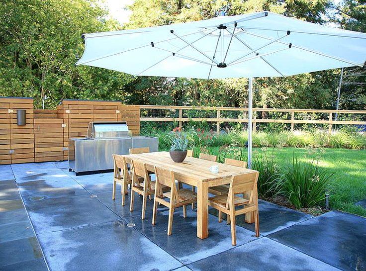 Современная летняя зона отдыха с барбекю и гриль | BBQ and Grill zone