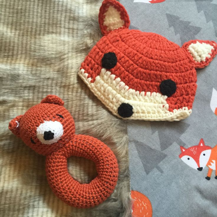 Keep their heads warm and hands busy. We cant get enough of foxes!