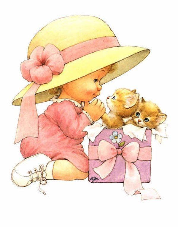 Девочка с подарками открытки, открытки магазин
