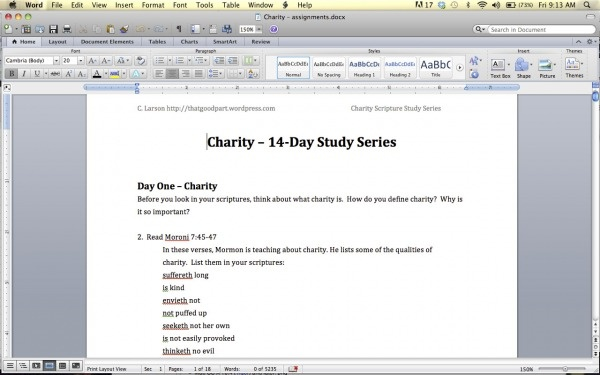 Charity- 14 day study:  Internet Site, Study Series, Gospel Study,  Website, Web Site, Charity Scriptures, Scriptures Study, Scripture Study, Charity Study