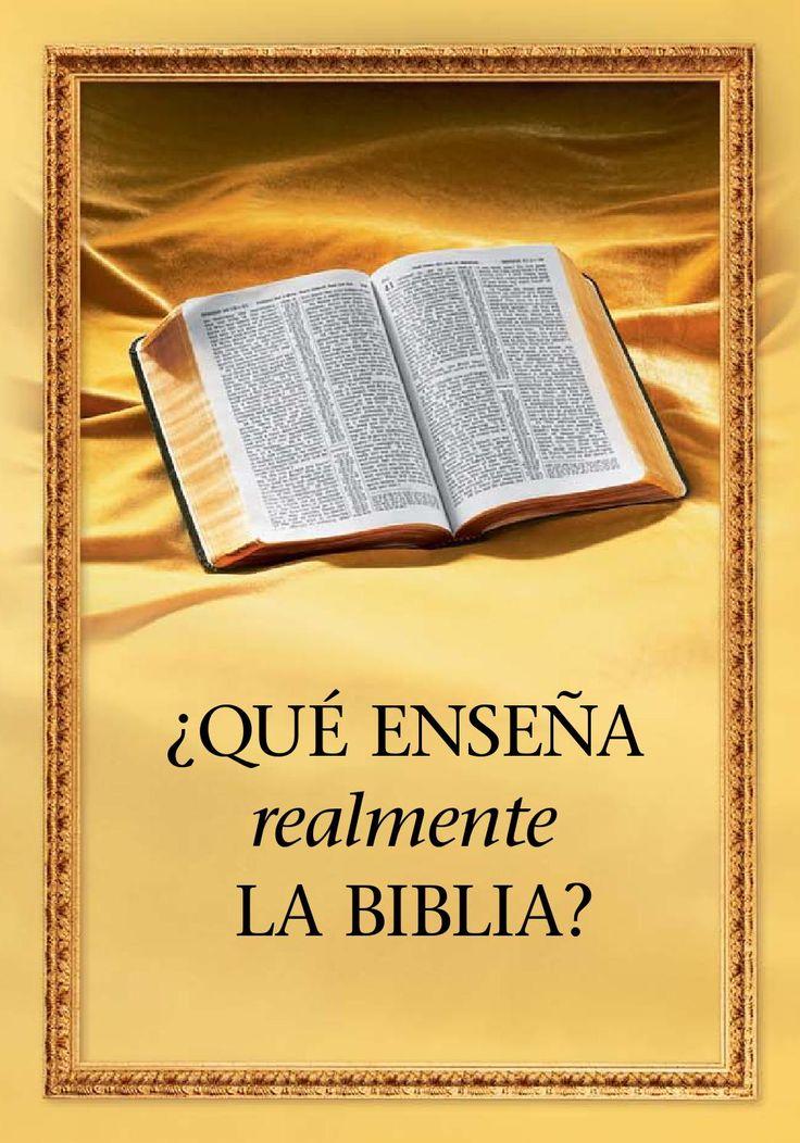 ¿que enseña realmente la biblia