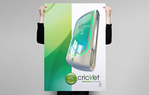 """AMD - Cricket """"Interaction In Movement"""" 2006 by Lhuis , via Behance"""