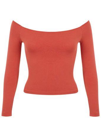 Petites Burnt Orange Bardot Top