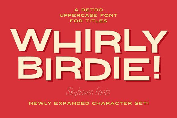 Whirly Birdie Variable Font Retro Typography Modern Fonts 1950s Font