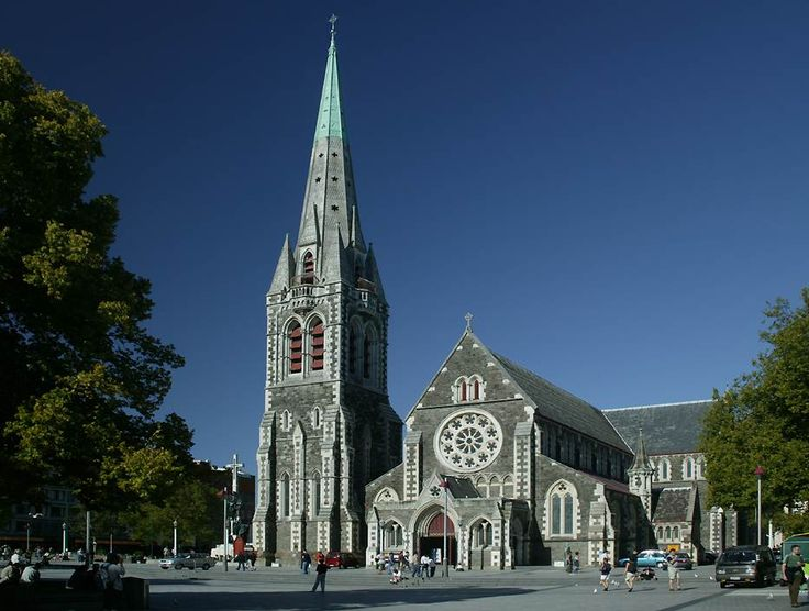 My town - Christchurch - sad, sad, so sad - this is what it use to look like before our earthquake 6.3 22/2/11.  We have lost so much history - this cathedral has gone.....