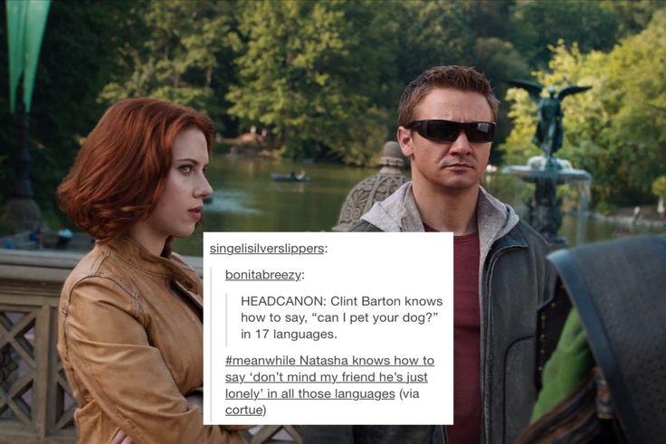 Clint Barton and Natasha Romanoff