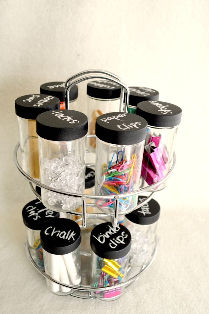 Organizer Caddy. This darling Organizer Caddy is made out of an empty spice rack.