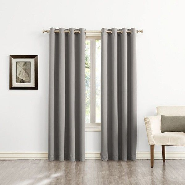 sun zero ludlow blackout curtain 36 liked on polyvore featuring home home