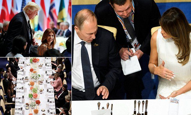 They continue their lavish power grasping lives while around them the city Burns Melania Trump sits beside Putin at G20 banquet