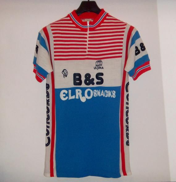 fa5d87d9bf996 1982 B&S-Elro Snacks-Concorde Worn Ultima Cycling Jersey Cotton ...