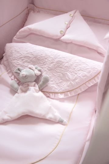 Finesse nursery line - pink sleeping bag and cuddle toy