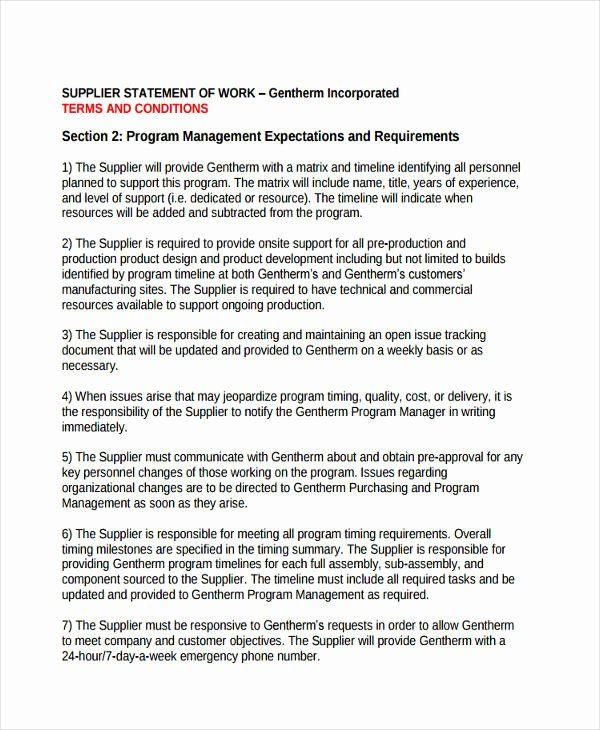 Simple Statement Of Work Template Beautiful 32 Statement Of Work Examples Samples Pdf Word Statement Of Work Sample Resume Statement Template