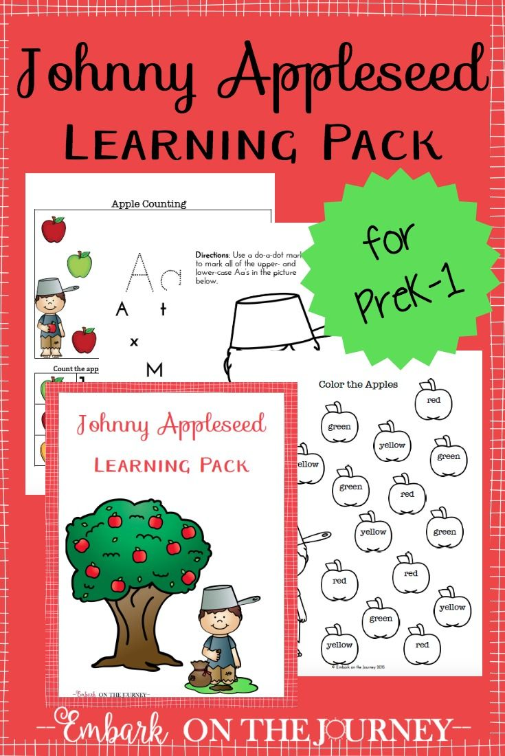 Johnny Appleseed is a great addition to your autumn or tall tales unit studies…