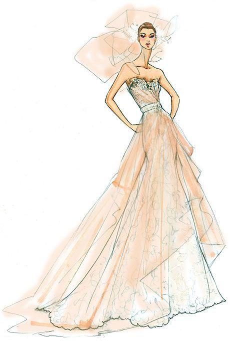 fashion sketches short wedding dresses 131 Fashion Sketches Short Wedding Dresses