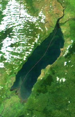 Lake Albert (Uganda) (NASA) - Albert Gölü (Afrika) - Vikipedi-Albert Gölü ya da Albert Nyanza ya da eski adıyla Mobutu Sese Seko Gölü, Büyük Afrika Göllerinden birisidir. Afrika kıtasının 7. büyük gölü ve hacmine göre dünyanın 27. en büyük gölüdür.