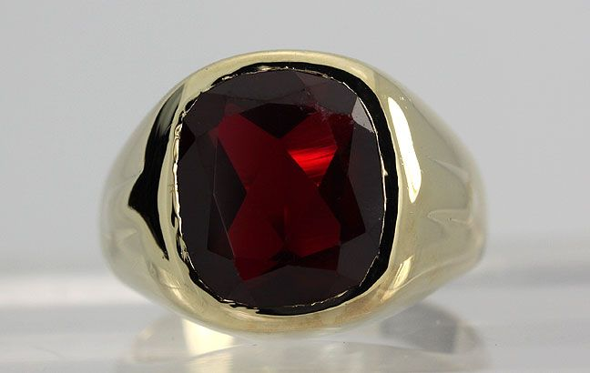 vintage mens ruby rings | ...still not right