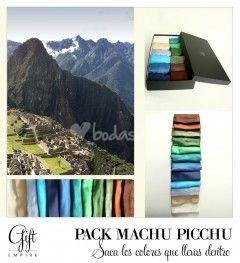Pack Machu Picchu. Pashminas para bodas