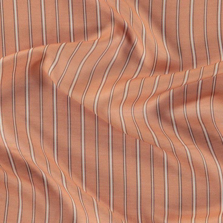 Satin silke pudder med striber