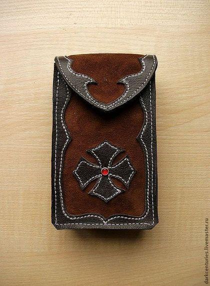 Чехол футляр для колоды карт Таро коричневый c крестом Magic cross - чехол для карт таро