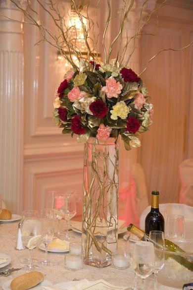 Top ideas about burgundy gold centerpieces on pinterest