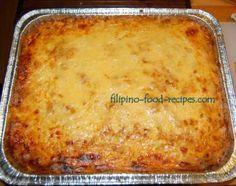 Filipino Baked Macaroni
