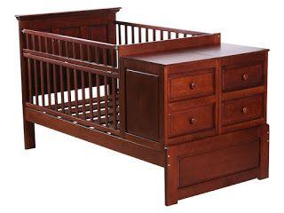 muebles de bebe: cuna para bebe funcional de madera