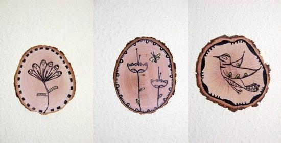 Troncos de Árbol Pintados para Decoración Otoñal: http://www.manualidadesinfantiles.org/troncos-de-arbol-pintados-decoracion-otonal/