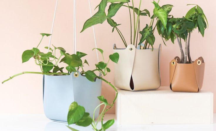 Cache pot en cuir via Goodmoods