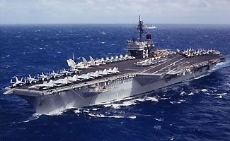 This was the ship where my dad did his first tour, The USS Constellation CV-64.