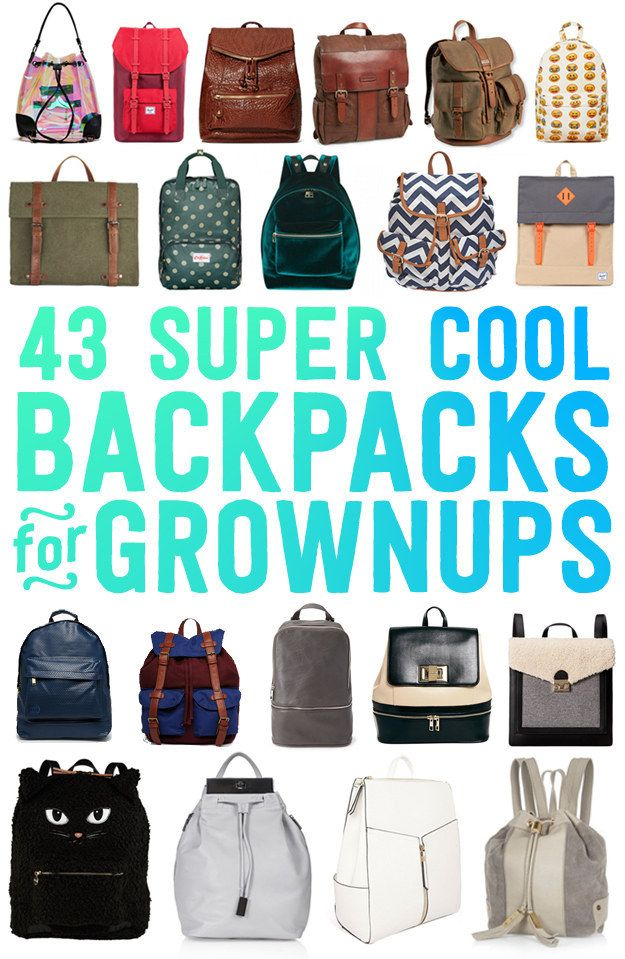 43 Super Cool Backpacks For Grownups - how else are we going to carry all our day trip supplies when we're trekking around the south island?