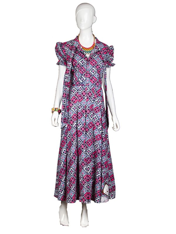 long ankara wax print dress with long straps and ruffled 27 dresses amazon 27 dresses online watch