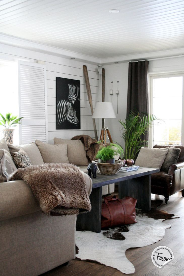 Colonial style   #zebra #fur #leather #shutters #neutrals