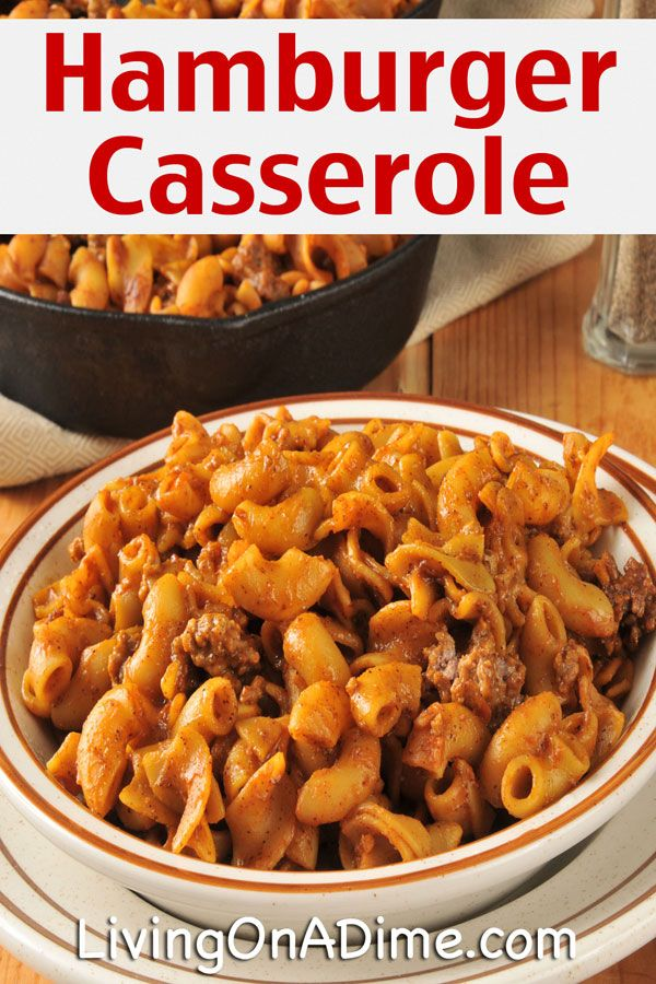 Easy Crockpot Hamburger Casserole Recipe - 10 Dinners For $5 - Cheap Dinner Recipes And Ideas
