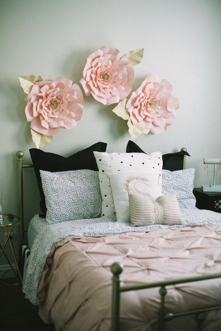 Light Pink Rose & Gold Teen/Tween Girls Bedroom Makeover